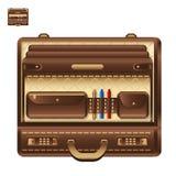Abra a pasta do negócio no ícone realístico do vetor do estilo Ilustração Stock