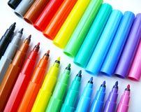 Abra penas felt-tip (os marcadores) Imagens de Stock