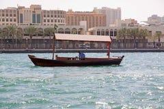 Abra - Dubai water taxi royalty free stock image
