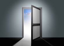 Abra a porta ao céu ilustração stock