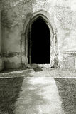 Abra a porta da igreja Fotos de Stock