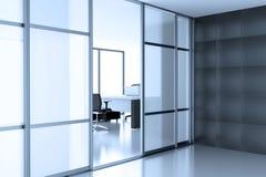 Abra a porta de vidro Imagens de Stock Royalty Free
