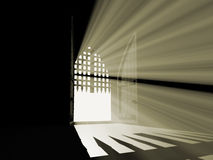 Abra a porta do paraíso da escuridão. Fotografia de Stock