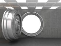 Abra a porta do Vault de banco Imagens de Stock