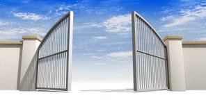 Abra portas e parede ilustração royalty free