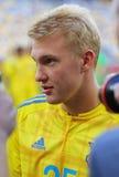 Abra a sessão de formação da equipa de futebol do nacional de Ucrânia Fotos de Stock Royalty Free