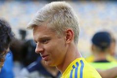 Abra a sessão de formação da equipa de futebol do nacional de Ucrânia Imagens de Stock Royalty Free