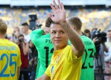 Abra a sessão de formação da equipa de futebol do nacional de Ucrânia Imagem de Stock