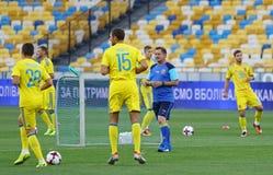 Abra a sessão de formação da equipa de futebol do nacional de Ucrânia Foto de Stock Royalty Free