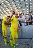 Abra a sessão de formação da equipa de futebol do nacional de Ucrânia Fotos de Stock