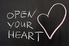 Abra seu coração Fotos de Stock