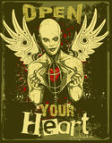Abra seu mal do coração   Fotografia de Stock Royalty Free