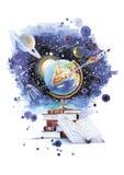 Abra seu universo ilustração royalty free