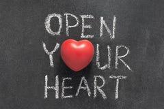 Abra su corazón Foto de archivo libre de regalías