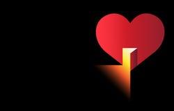 Abra su corazón libre illustration