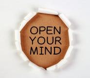 Abra su mente Fotografía de archivo