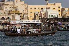 Abra taxi przy Dubaj zatoczką zdjęcie royalty free
