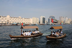 Abra Taxis at Dubai Creek Stock Images