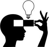 Abra uma mente para aprender a instrução nova da idéia Fotos de Stock