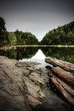 Abra una sesión un lago Fotografía de archivo