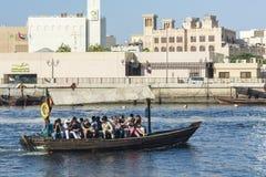 Abra vattentaxi Dubai Arkivbilder
