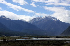 Abra a vista do vale tibetano Foto de Stock Royalty Free