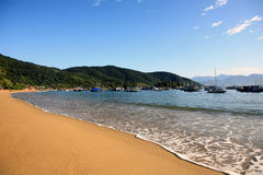 Abraao beach ilha grande Royalty Free Stock Photos