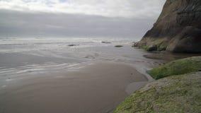 Abrace la línea de la playa del punto, Oregon, Estados Unidos 4K, UHD almacen de video