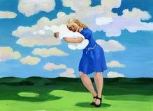 Abrace las nubes Imagen de archivo libre de regalías