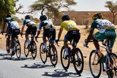 Abrace o ciclismo do mundo na excursão du Senegal 2017 Fotos de Stock Royalty Free