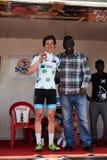 Abrace o ciclismo do mundo na excursão du Senegal 2017 Imagem de Stock Royalty Free