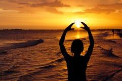 Abrace o sol Imagens de Stock