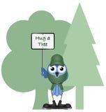Abrace uma árvore ilustração stock
