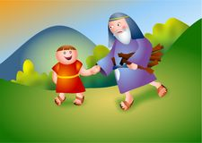 Abraham. And Isaac biblical characters Royalty Free Stock Photos
