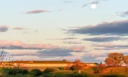 Abraham Battlefields na Lua cheia fotografia de stock