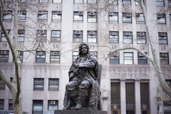 Abraham depeyster statue. The statue of abraham depeyster in newyork city Stock Photos