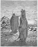 Abraham envía Hagar e Ishmael ilustración del vector