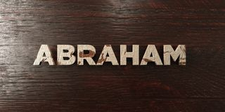 Abraham - grungy wooden headline on Maple  - 3D rendered royalty free stock image. This image can be used for an online website banner ad or a print postcard Royalty Free Stock Photos