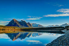 Abraham Lake. In the foothills of the rocky mountains, Alberta Canada stock photo