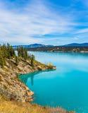 Abraham Lake i indiansommar Fotografering för Bildbyråer