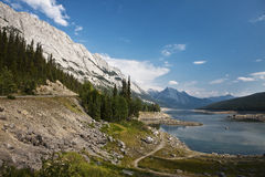 Abraham Lake - Jasper National Park Stock Photo