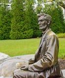 Abraham Lincoln雕象在Gettysburg 图库摄影