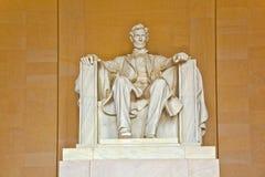 Abraham Lincoln雕象 免版税库存照片