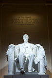 Abraham Lincoln雕象 库存照片