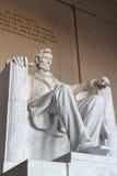 Abraham Lincoln雕象 免版税库存图片