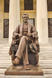 Abraham Lincoln雕象 图库摄影