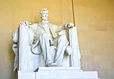 Abraham Lincoln. Abe Lincoln captured at the Lincoln memorial in Washington DC royalty free stock images