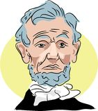 Abraham lincoln royalty free illustration