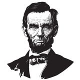Abraham Lincoln. President. Hand drawn vector portrait Stock Image