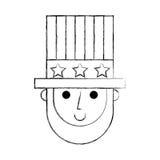 Abraham Lincoln avec le caractère comique de chapeau Photo libre de droits